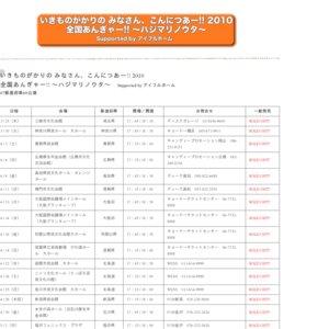 いきものがかりの みなさん、こんにつあー!! 2010 全国あんぎゃー!! ~ハジマリノウタ~ 神奈川県民ホール