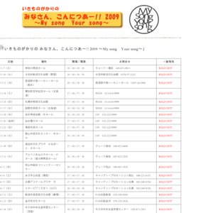 いきものがかりの みなさん、こんにつあー!! 2009 ~My song Your song~ ホクト文化ホール