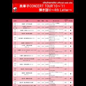 奥華子 CONCERT TOUR'10~'11 弾き語り ~4th Letter~ 宮崎公演