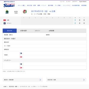 プロ野球公式戦 東京ヤクルトスワローズVS広島東洋カープ 2017年4月21日