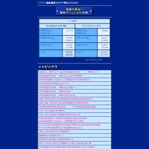 東京ゲームショウ'98秋 一般公開日2日目