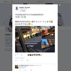 2017/03/16 BLAST路上ライブ(#KAREN, YUKI)