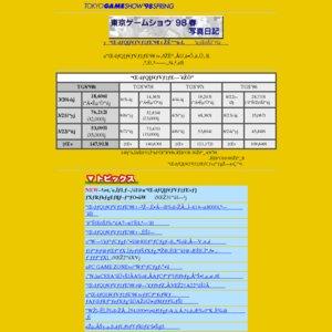 東京ゲームショウ'98春 ビジネスデイ(特別招待日)