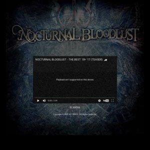 NOCTURNAL BLOODLUST TOUR OF GEHENNA 17-18《女限定》