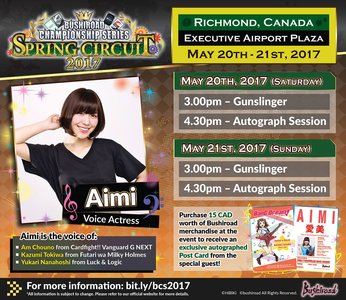Bushiroad Championship Series SPRING CIRCUIT 2017 CANADA DAY1 Aimi Autograph session