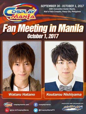 Wataru Hatano and Koutarou Nishiyama Fan Meeting in Manila