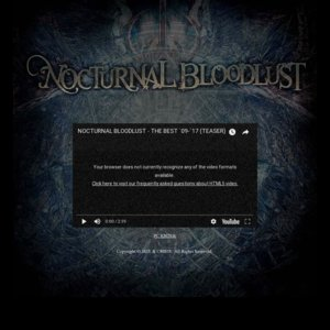 NOCTURNAL BLOODLUST Presents ONE MAN TOUR「Inmost of Gehenna」千葉公演