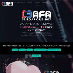 C3 AFA SINGAPORE 2017 2日目 I Love Anisong concert