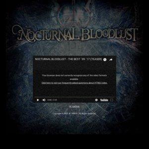 NOCTURNAL BLOODLUST Presents ONE MAN TOUR「Inmost of Gehenna」大阪公演