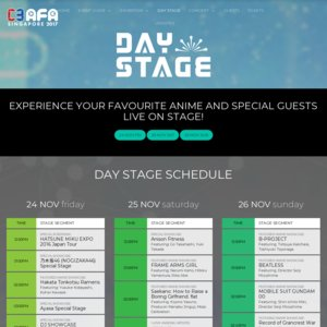 C3 AFA Singapore 2017 3日目 I Love Anisong Artist Appearance (Main Stage)