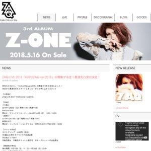 ZAQ LIVE TOUR 2018「Z-ONE」東京公演