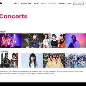 Anime Matsuri 2018 Concerts Friday