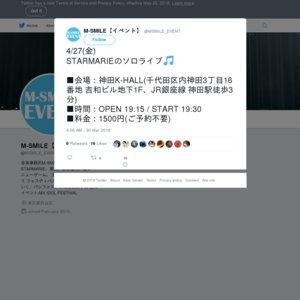 STARMARIE ソロライブ (2018/4/27)