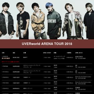 UVERworld ARENA TOUR 2018 愛知公演1日目