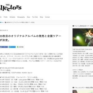 "THE COLLECTORS TOUR2019 ""YOUNG MAN ROCK""  福岡・DRUM LOGOS"