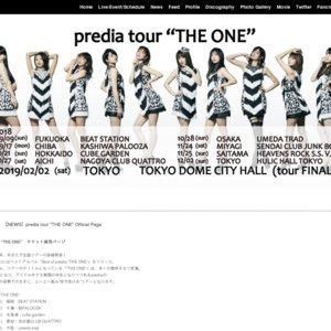 "predia tour ""THE ONE"" day5 大阪"