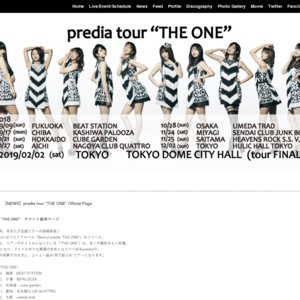"predia tour ""THE ONE"" day FINAL"