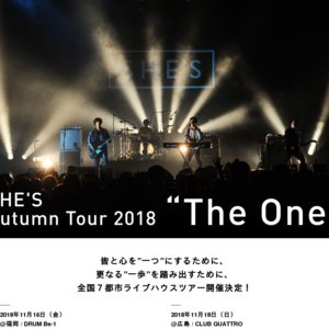 "SHE'S Autumn Tour 2018 ""The One"" 大阪公演"