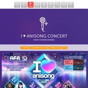 C3 AFA SINGAPORE 2018 2日目 I LOVE ANISONG CONCERT