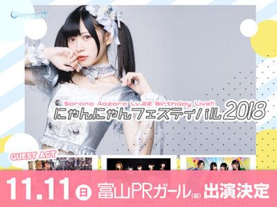 空野青空生誕ライブ~にゃんにゃんフェスティバル2018~