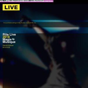 Rita Live 2019 -Magie≒Musique-