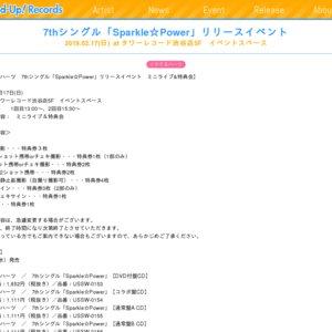 7thシングル「Sparkle☆Power」リリースイベント 2019.02.17(日)at タワーレコード渋谷店4F イベントスペース 2部