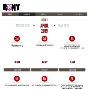 「ReNY SUPER LIVE 2019 vol.6」 Presented by SHINJUKU ReNY~春休み日曜日だよ!