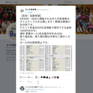 中スポ音楽祭 1日目(2019/4/28)