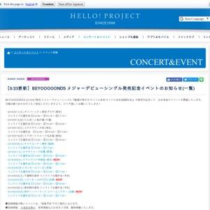 BEYOOOOONDS 1stシングル発売記念ミニライブ&握手会(6/8 栃木)