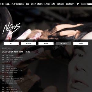 "OLDCODEX ""LADDERLESS"" Tour 2019 熊本"