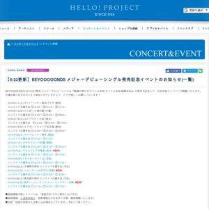 BEYOOOOONDS メジャーデビューシングル発売記念 ミニライブ&握手会イベント(6/23 イオンモールKYOTO)①