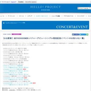 BEYOOOOONDS メジャーデビューシングル発売記念 ミニライブ&握手会イベント(6/1 けやきウォーク前橋)①