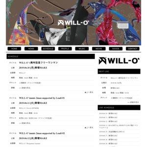 WILL-O' 1周年記念フリーワンマン