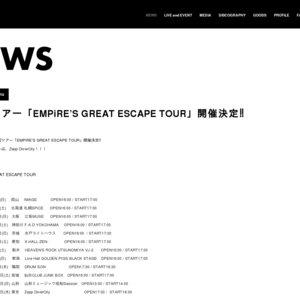 EMPiRE'S GREAT ESCAPE TOUR@東京 Zepp DiverCity