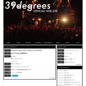 "39degrees presents ""SILK"" Release Tour 2019-2020 町田"