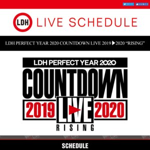 "LDH PERFECT YEAR 2020 COUNTDOWN LIVE 2019▶︎2020 ""RISING"""