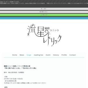 縁劇ユニット流星レトリック第5回公演『君に捧げる花ことば』(11/4)