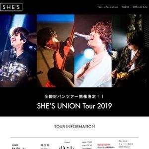 SHE'S UNION Tour 2019 静岡公演