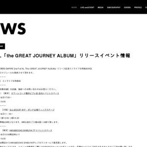 EMPiRE 2nd Full AL『the GREAT JOURNEY ALBUM』リリース記念ミニライブ&特典会 12/1