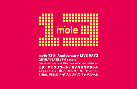 mole 13th Anniversary LIVE DAY2