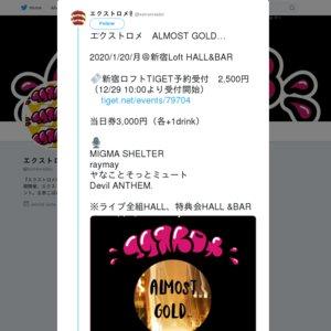 エクストロメ ALMOST GOLD...