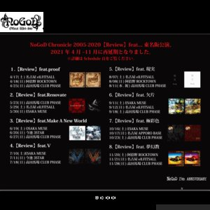 NoGoD Chronicle 2005-2020【Review】feat.欠片