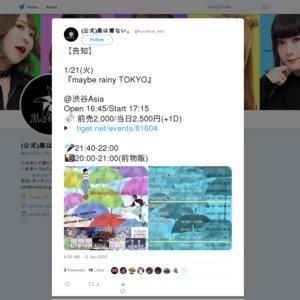 maybe rainy TOKYO 2020/1/21