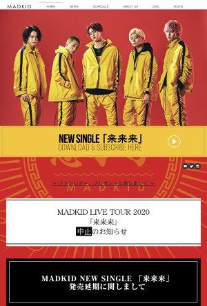MADKID LIVE TOUR 2020「来・来・来」大阪公演