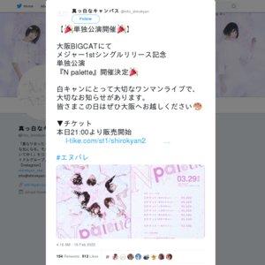 【中止】真っ白なキャンバス メジャー1stシングルリリース記念単独公演『N palette』