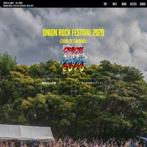 【中止】ONION ROCK FESTIVAL 2020 -CHIBA DE CARNIVAL- 2日目