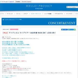 【中止】アンジュルム ライブツアー 2020冬春 7/23 石川 夜公演【3/14振替】