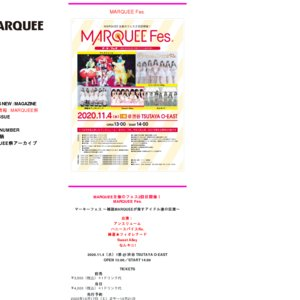 MARQUEE Fes. 11/5 2部