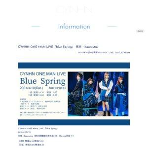 CYNHN ONE MAN LIVE「Blue Spring」1部