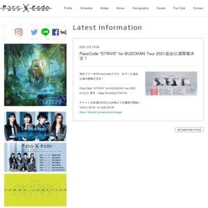 """【振替】""""STRIVE"""" for BUDOKAN Tour 2021 東京(追加)"""
